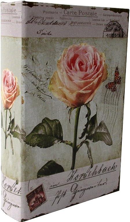 Libro caja fuerte con llave - Modelo Rosas: Amazon.es: Hogar