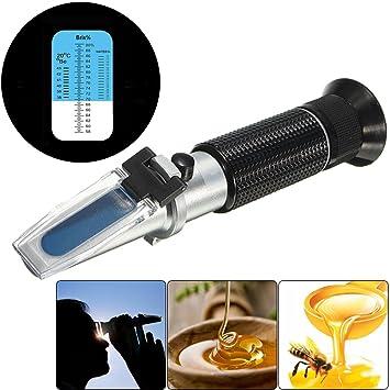 apicultores refractómetro de miel 58-90% Brix 38-43 Baume 12-27% de azúcar ...