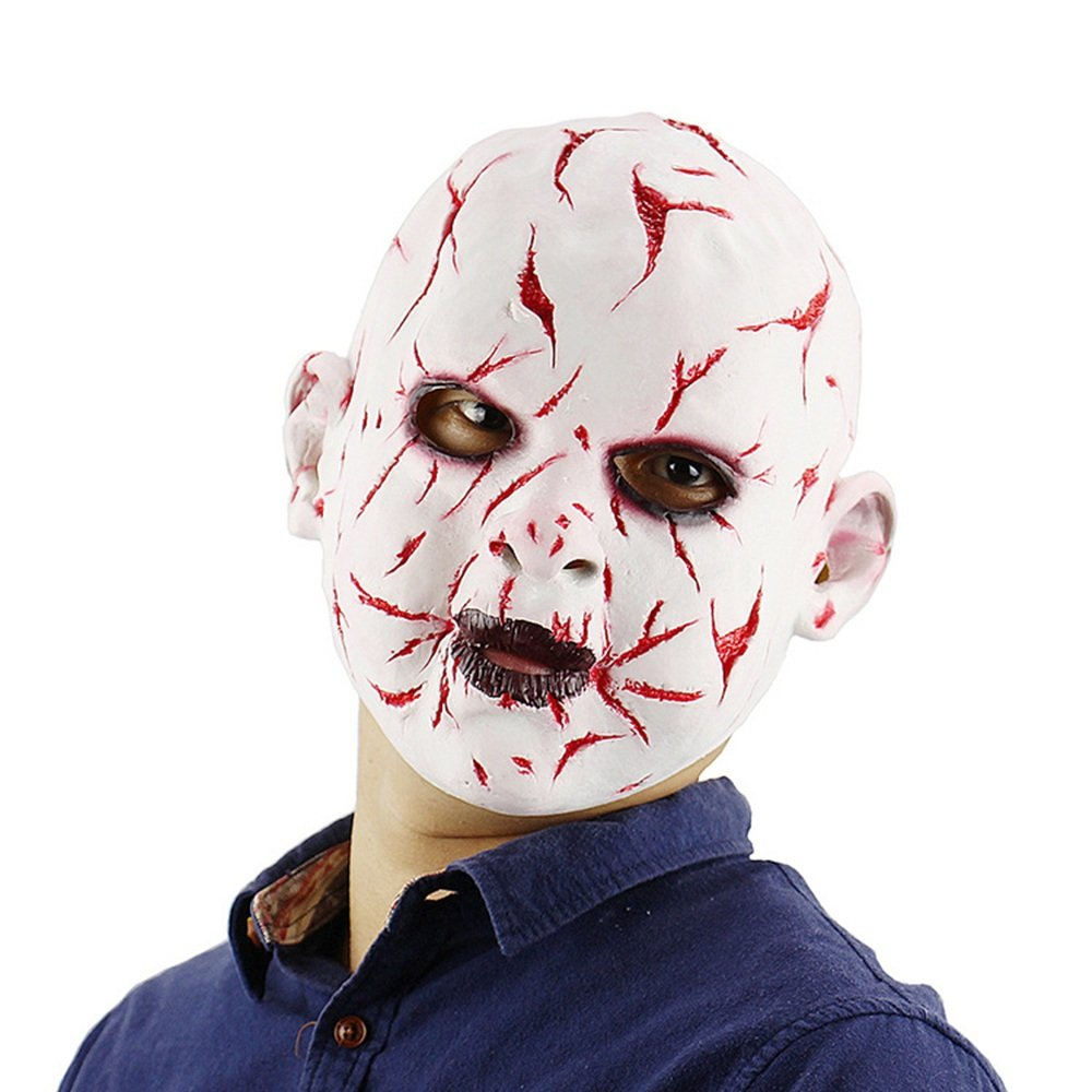 NYDZ Halloween Bloody Face Ghost Face Doll Mask Latex Horror Mask Headgear