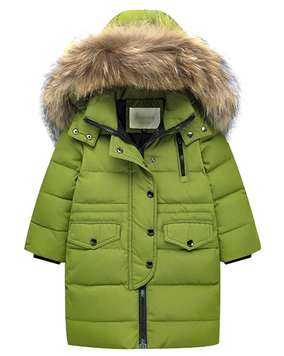 4507c79af83e Amazon.com  Happy childhood Kids Boys Girls Mid Long Winter Puffer ...