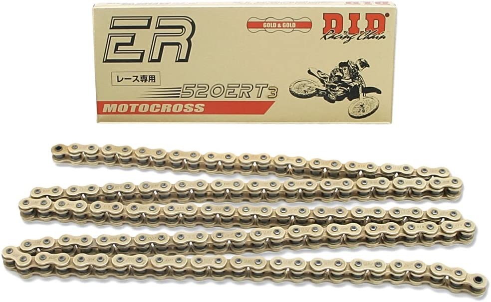 DID 520ERT3-116 Gold 116 Links High Performance Racing Chain with Connecting Link