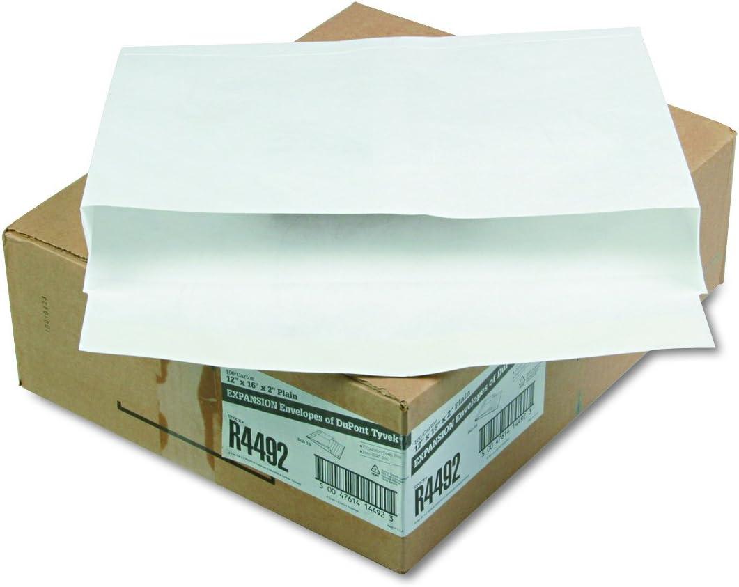 White 100//Carton 10 x 13 x 2 Tyvek Booklet Expansion Mailer 2 Cartons