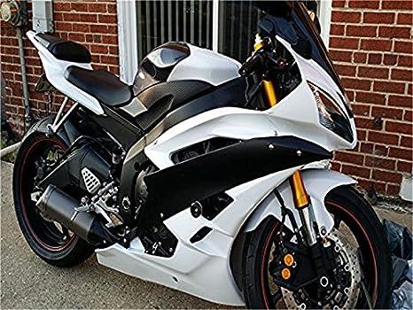 2006 2007 blanco carenado de inyección negro Fit para Yamaha ...