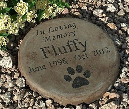 Personalized Engraved Pet Memorial Step Stone 7.5' Diameter 'in Loving Memory