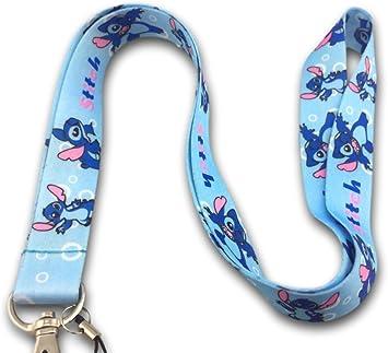 Punto de cordón para el cuello correa soporte para identificación de para llaves – Llavero, diseño de Lilo stitch: Amazon.es: Bricolaje y herramientas