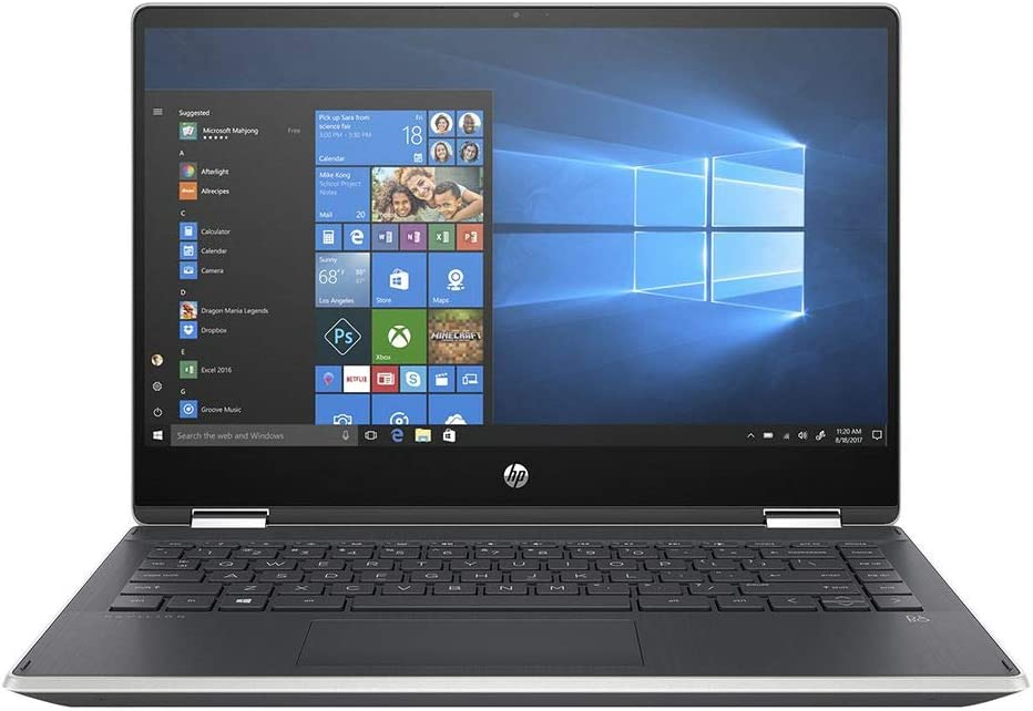 "2020 HP Pavilion x360 2-in-1 Laptop: 10th Generation Core i7-1065G7, 512GB SSD, 16GB RAM, 14"" Full HD IPS Touchscreen, Backlit KB"