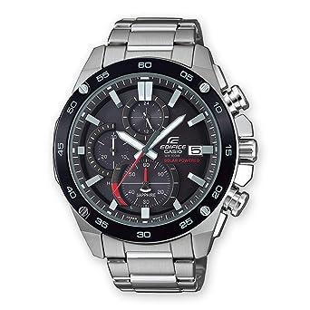 Casio Reloj Cronógrafo para Hombre de Energía Solar con Correa en Acero Inoxidable EFS-S500DB-1AVUEF: Amazon.es: Relojes