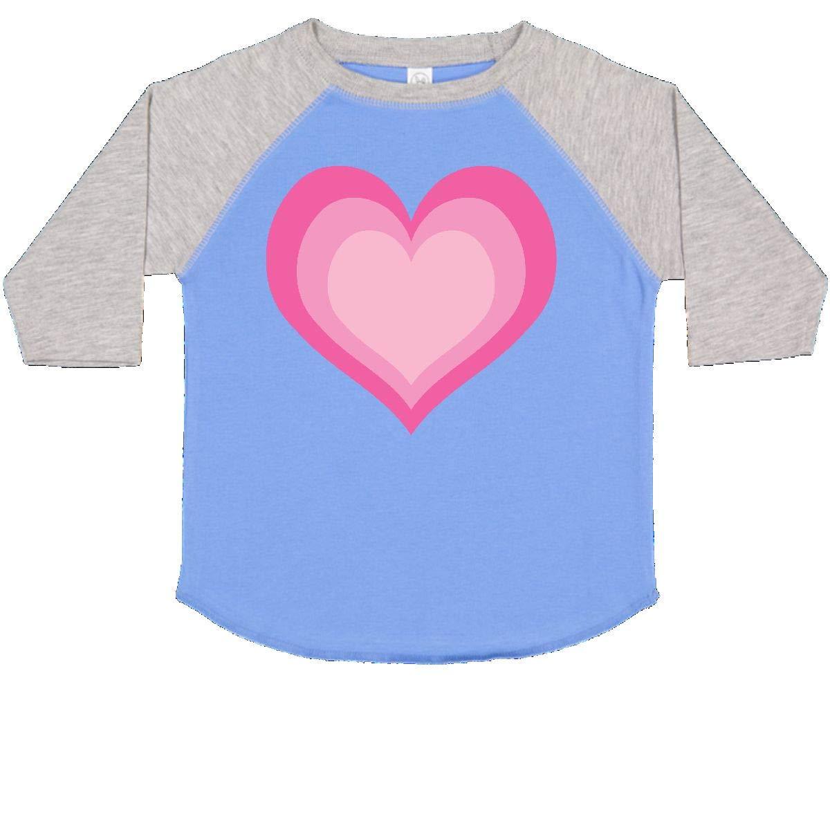 inktastic Pink Valentine Heart Toddler T-Shirt