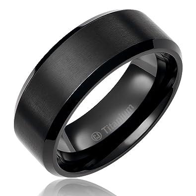 8mm titanium promise engagement rings for men wedding bands for him black plated