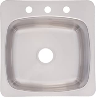 Franke Axis 20 Dual Mount Single Bowl Kitchen Sink Stainless Steel