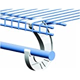 SuperSlide White Closet Rod Support Pack of 2