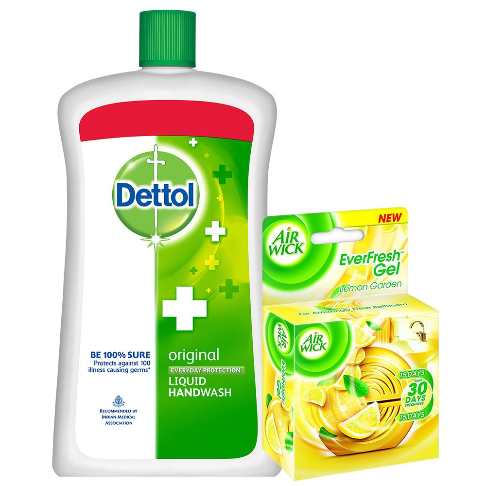 Dettol Hand Wash Refill - 900 ml (Original) with Airwick Gel - 50 g (Citrus)