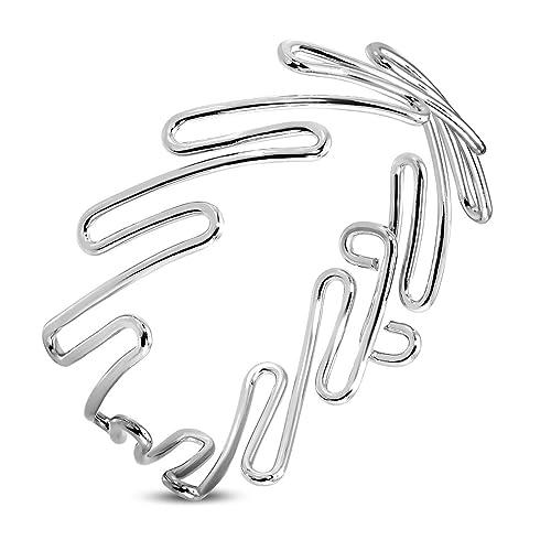 Aleación de Fashion pulsera de alambre de zigzag - Tensiómetro de brazo: Amazon.es: Joyería