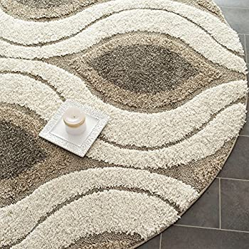 area rug cleaning diy throw rugs home depot this item shag collection cream smoke round diameter sizes