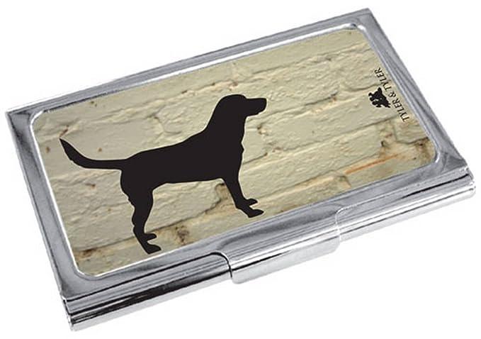 Tyler And Creme Noir Argent Blanc Brick Labrador Carte De Visite