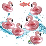 Brave Hours 6 Pack Drink Floats Cute Animal Pool Drink Holder Set Reusable Inflatable Float Cup Coasters for Summer Pool Party,6 Flamingo.