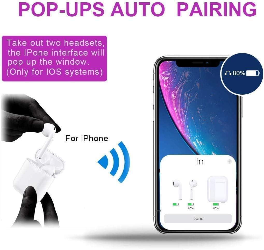 Bluetooth-Kopfh/örer,kabellose Touch-Kopfh/örer HiFi-Kopfh/örer In-Ear-Kopfh/örer Rauschunterdr/ückungskopfh/örer,Tragbare Sport-Bluetooth-Funkkopfh/örer,F/ür Apple Airpods Android//iPhone//Samsung//AirPods Pro