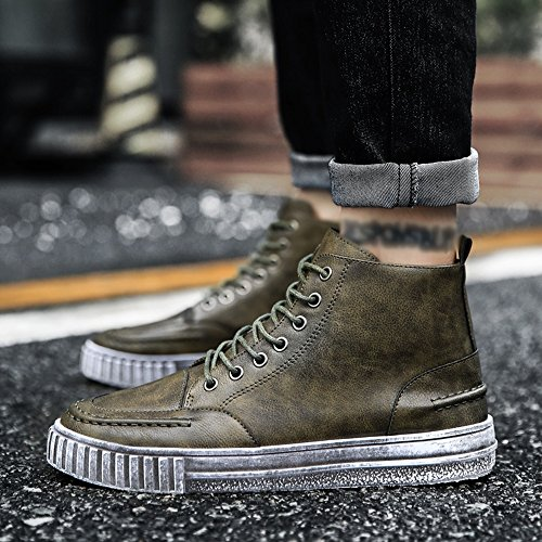 UK7 Autumn Spring Colors Green Retro CN41 Color Help Shoes Plate Feifei High EU40 and Leisure Shoes 3 Men's Size ITfAqEw