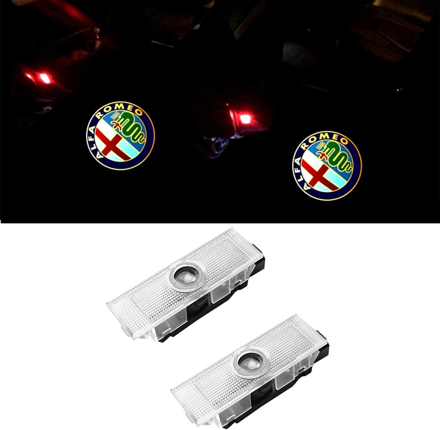 ZTMYZFSL 4 Pcs Car Logo Projection LED Projector Door ghost Shadow Light Welcome Lamp Light