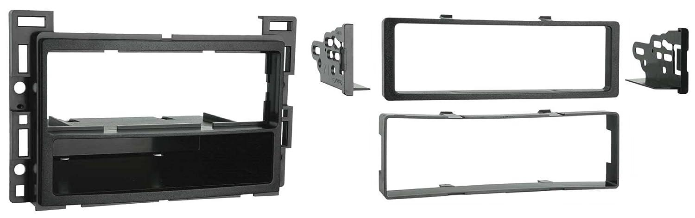 Silver Metra Single DIN Dash Installation Kit for 2010-Up Select GM//Pontiac//Saturn Vehicles