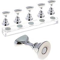 Nail Display Stand Base Set Magnetic Practice Nail Salon Manicure Tool Nail Art Tip Holder Make Sample Sliver