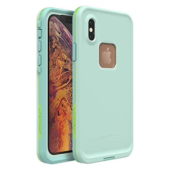 on sale be48d 023a3 Lifeproof FRĒ Series Waterproof Case for iPhone Xs - Retail Packaging -  Tiki (FAIR Aqua/Blue Tint/Lime)