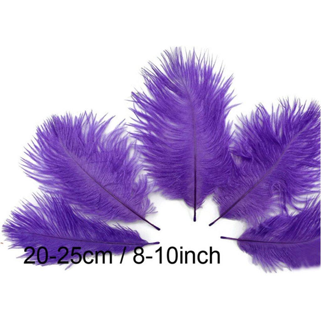 amarillo 10pcs Plumas de Avestruz Decoraci/ón para Disfraces Sombreros Tarjetas Bricolaje 20-25cm