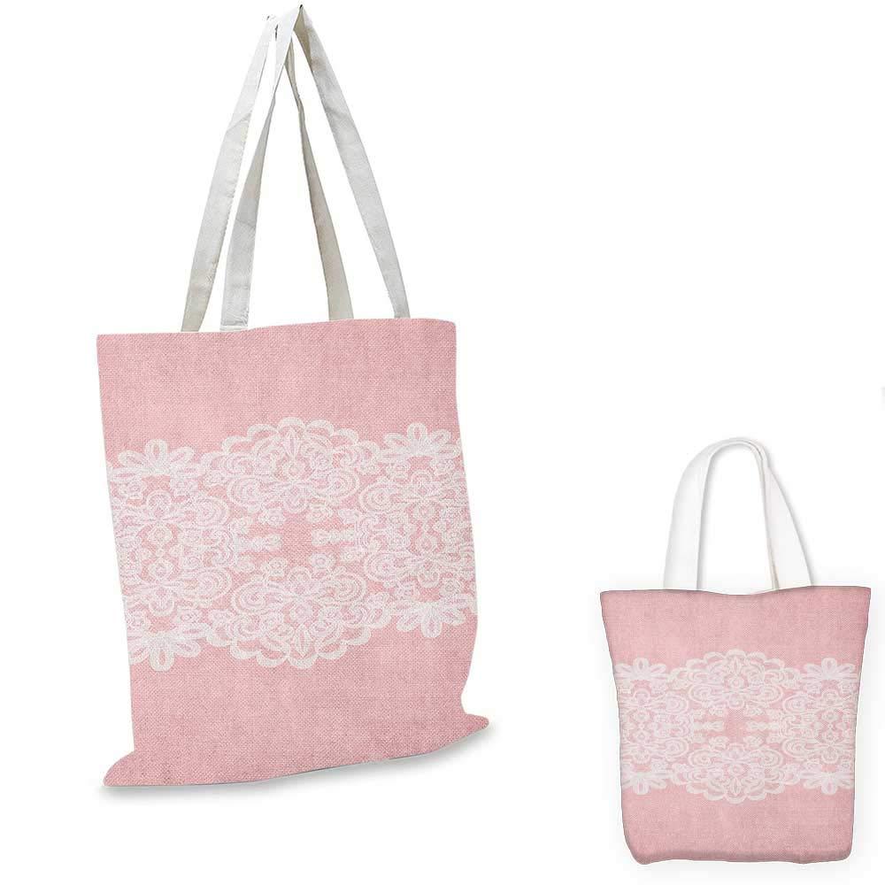 ピンクとホワイトスタイライズされた田舎の抽象的な花 ガーリー 芸術的 自然 ピンク タン ブラック 12