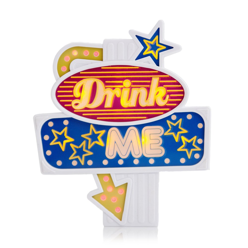 SUCK UK Flashing Bottle Topper (Drink me) SK FLASH DM1