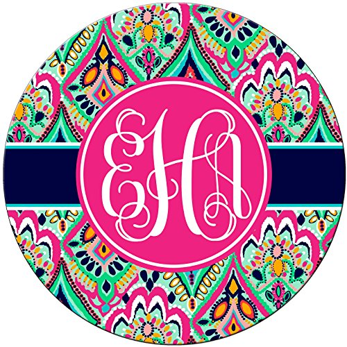 Monogrammed Mouse Pad Pretty Floral Jewels Monogram Personalized Custom (Monogram Jewel)