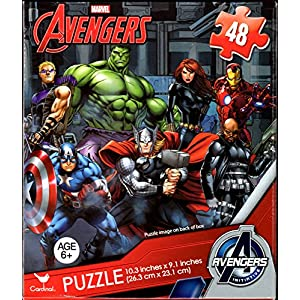 Avengers 48 Piece Jigsaw Puzzle CAPTAIN AMERICA, HULK, THOR, BLACK WIDOW, HAWKEYE, IRON MAN and NICK FURY