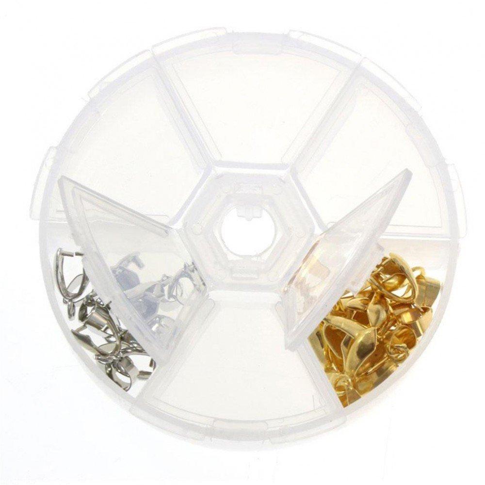 cod traslucido Cofanetti e scatole scatola di perline accessori gioielli 6/scomparti SKU013937