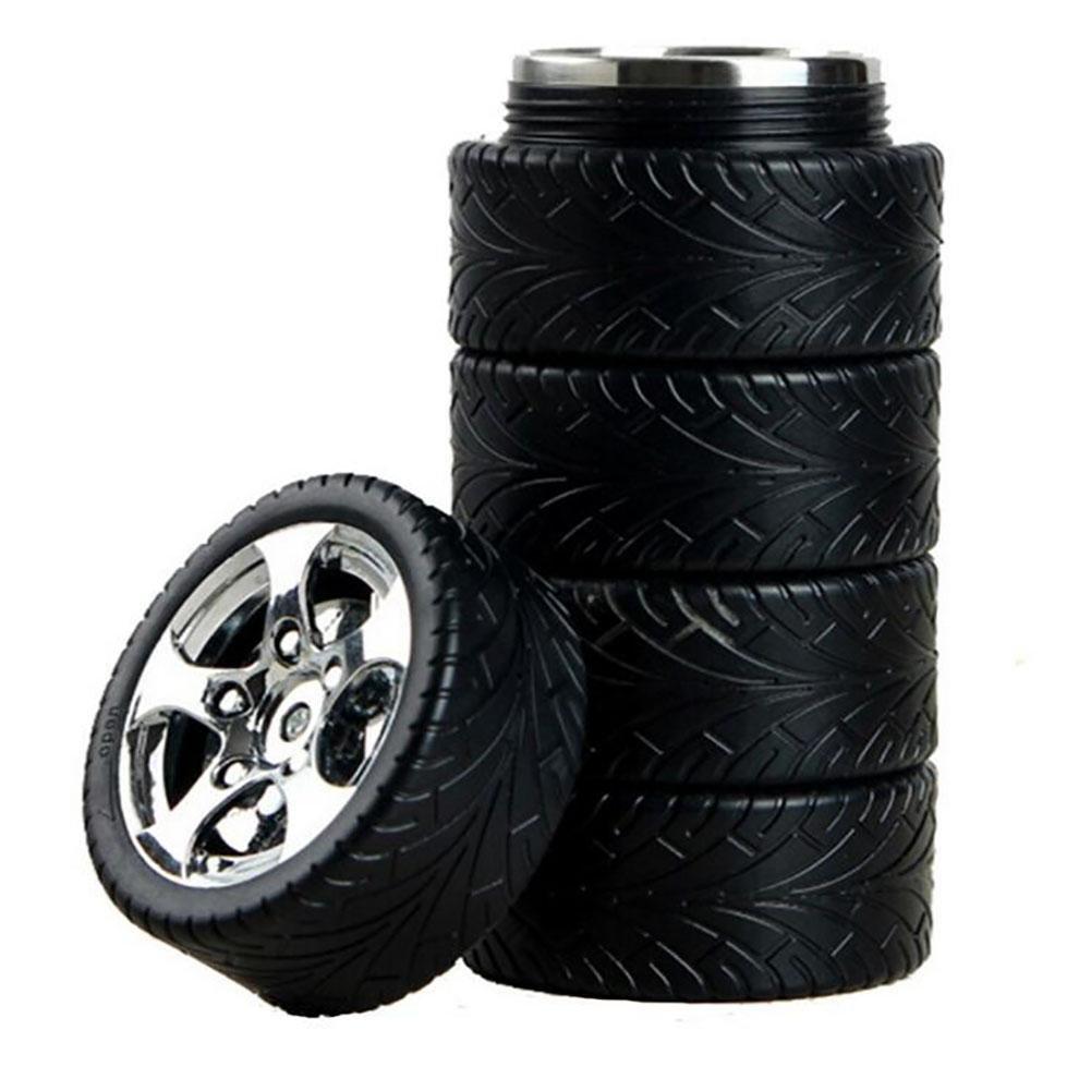 CHEZAI Caldera de Bicicleta Modelos de neumáticos de Coches de Acero Inoxidable Inner Aislamiento de la Copa Kettle Creativa