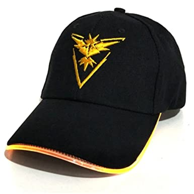 eebd63f5 Amazon.com: Team Instinct Embroidered LED Light Up Pokemon Go Team Hat -  One Size Fits All Baseball Cap For Kids and Adults - LED Light Up Brim:  Clothing