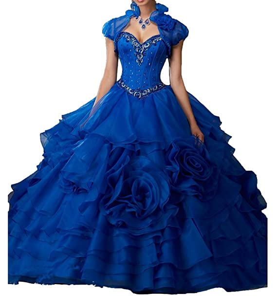 JinJia Elegant Women Beaded Long Ball Gown Prom Dress Plus Size Quinceanera  Dresses