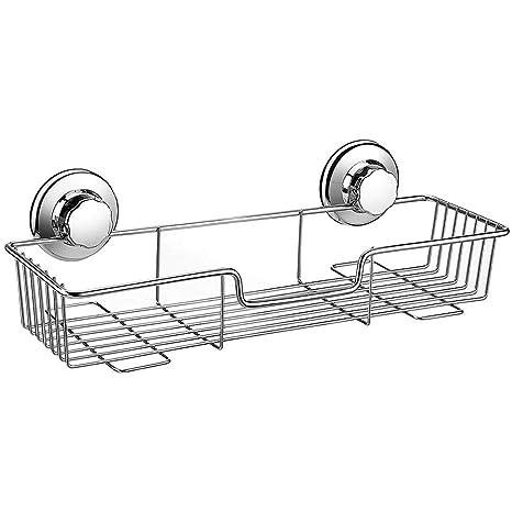 Wuudi Cesta de la Ducha Sistema de vacío- No-perforar -304 Acero Inoxidable Nunca Moho - por Cocina baño