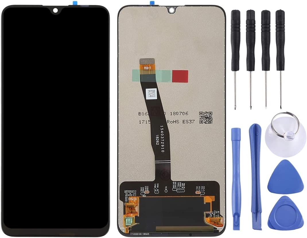 2019 Black // Enjoy 9s YANGJ LCD Screen and Digitizer Full Assembly for Huawei P Smart Color : Black