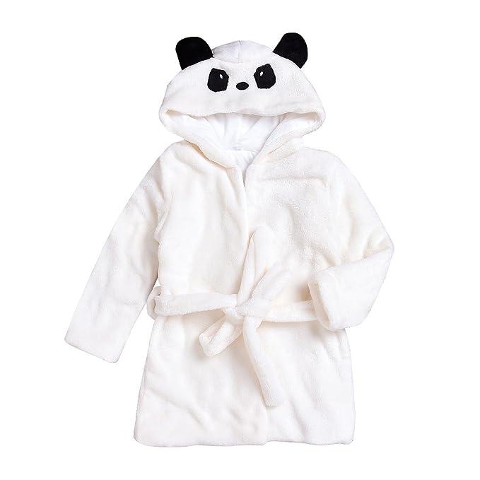 Amazon.com: puseky Toddler Kid Boys Girls Cute Panda Hooded Bathrobe ...