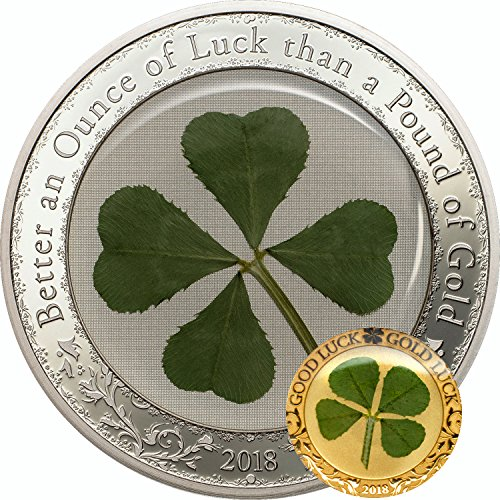PW 2018 OUNCE OF LUCK and FOUR LEAF CLOVER set Silver Coin and.9999 Gold Coin 2018 Proof Perfect Uncirculated