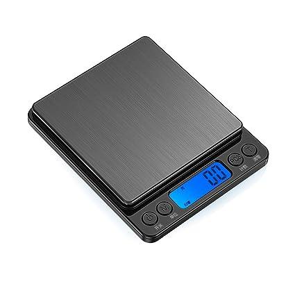 Cucsaist Balanzas de cocina Balanzas electrónicas Mini pesas electrónicas para el hogar hornear dicho peso de