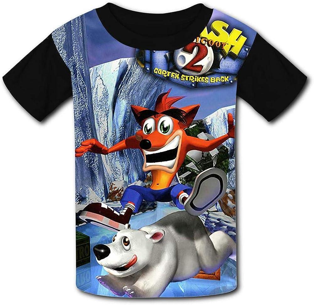 UANKO Crash-Bandicoot Childrens Summer Short Sleeve Printing T-Shirts {Size/_Name}