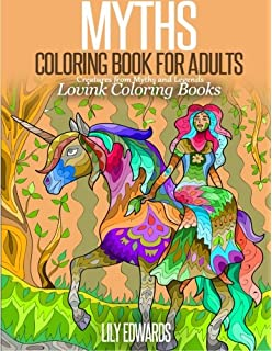 MYTHS Coloring Book For Adults Creatures From Myths And Legends