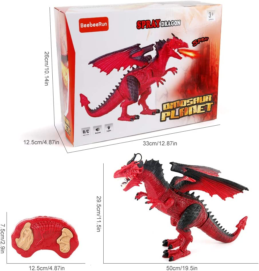 Remote Control Dragon Walking Dinosaur Toy For kid Animal with Roaring Spraying