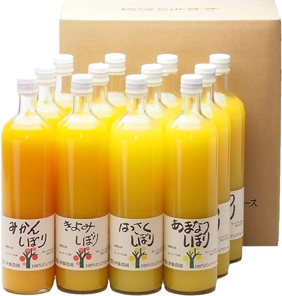ジュース ギフト セット みかんジュース オレンジジュース 100% 無添加 ストレート 750ml 12本 セット 農園直送 和歌山 有田 100パーセント 詰め合わせ 人気 甘い 贈答用 手土産 まとめ買い びん 瓶