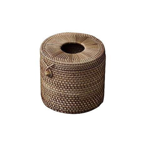 SHUCHANGLE Toalla De Papel Bambú Junco Minimalista Salón Vehículo Tejido Cuadro Cuadro De Toallas