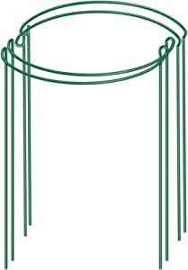 Acronde 4 PCS Half Round Garden Plant Support Ring for Plant Support for Tomato, Rose, Vine, Plant Flower Growing