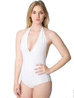 Amazon.com  American Apparel Women Cotton Spandex Halter Bodysuit ... 287318654