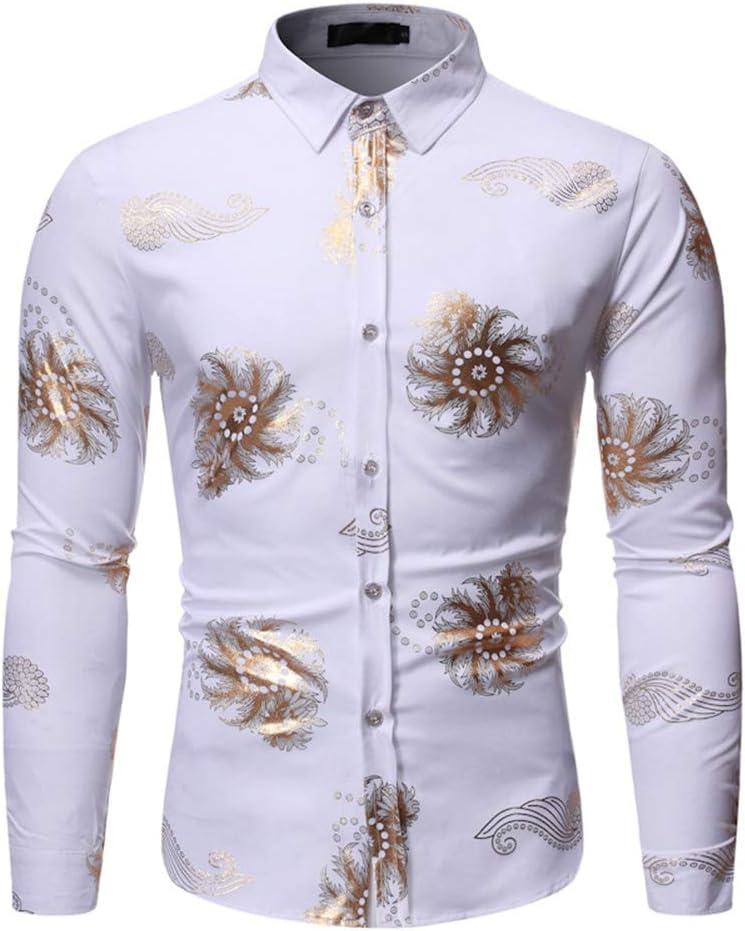 LISILI Camisas De Hombre Diseño Oro Patrón De Vórtice Impreso ...