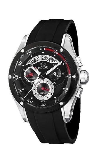 Jaguar Watches J651/1 - Reloj analógico de cuarzo para hombre con correa de plástico, color negro: Amazon.es: Relojes