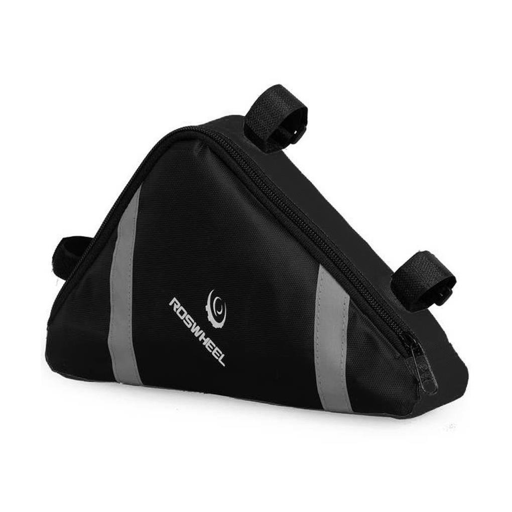FakeFace Bike Bicycle Black Medium Triangle Frame Bag - for Bike Tube Frame,Quick-Access